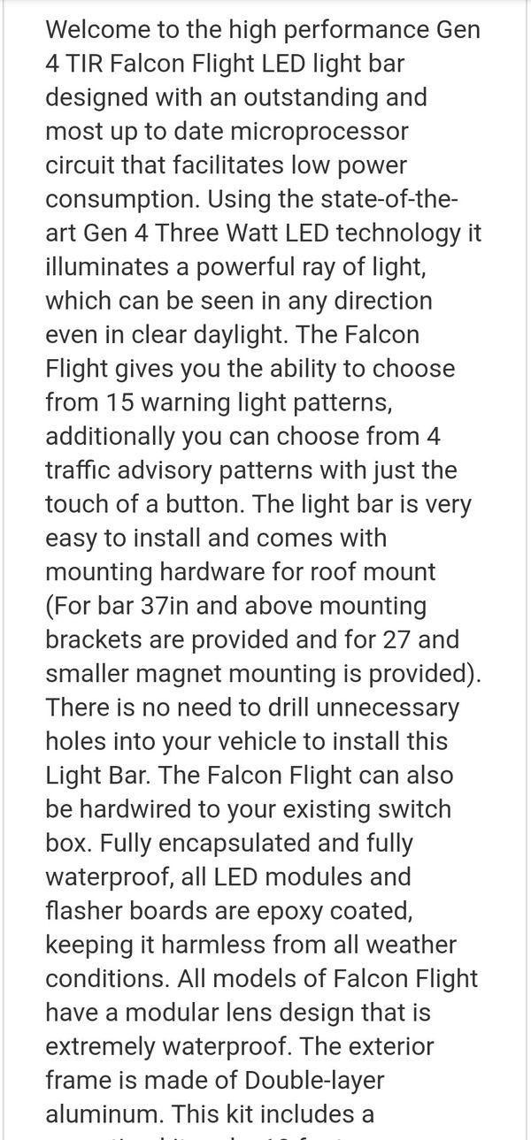 Falcon Flight Emergency Light (Towing, Snowplowing)