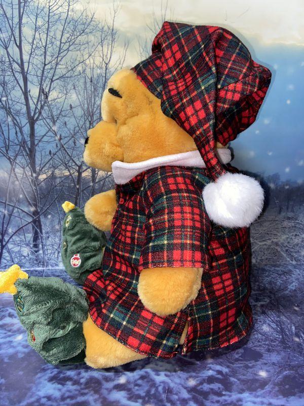 """Disney holiday morning pooh 12"""" plush toy"""