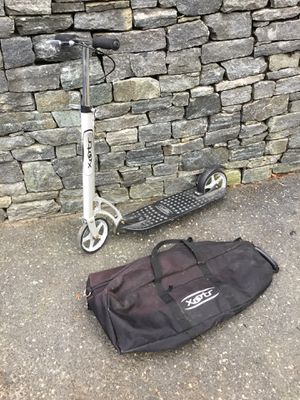 Xootr Adult scooter big wheels and carry case for Sale in Concord, MA