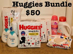 Huggies Snug and dry Diaper Bundle! for Sale in Fort Mill, SC
