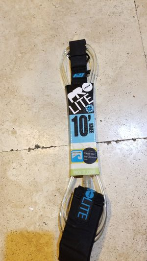 Pro Lite surfboard leash 10' knee for Sale in Phillips Ranch, CA