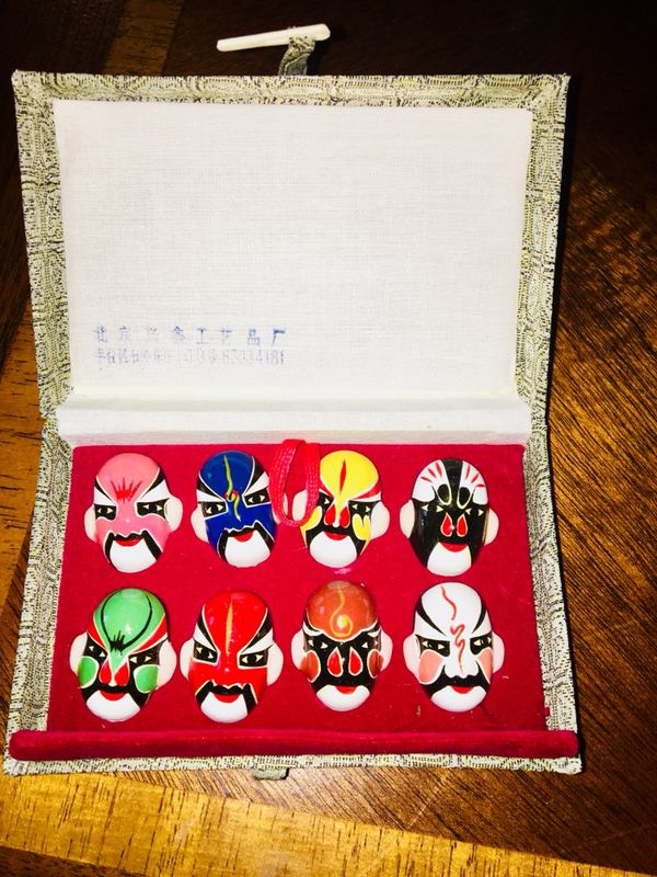 Chinese(Beijing) Miniature Opera Masks (Set of 8)