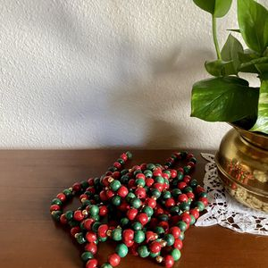 Red and green beaded garland for Sale in Tacoma, WA
