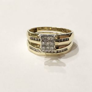14K Yellow Gold Woman's Wedding Set Size: 7.5 with approx. 0.65 cttw Diamonds **Great Buy** 10012689-1 for Sale in Tampa, FL