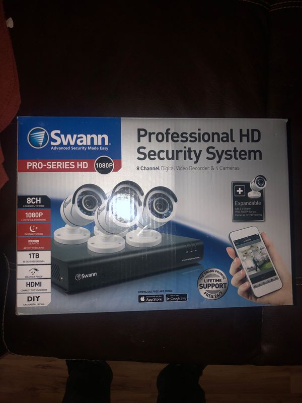 Swann professional HD SECURITY system + 2 color LID light cameras
