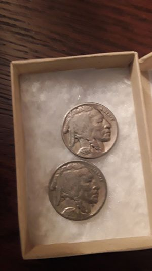 1935 and a 1927p silver buffalo nickel au great condition for Sale in Woodbridge, VA
