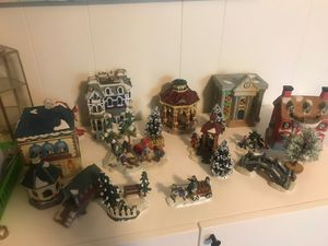 19 piece Ceramic Christmas Holiday Scene for Sale in Silver Spring, MD