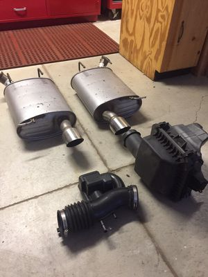 Mustang Mufflers (2x) and Airbox for Sale in Moon, PA
