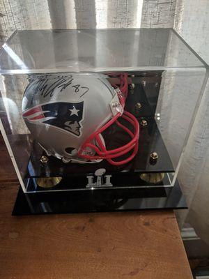 Rob gronkowski hand signed mini helmet for Sale in Glenburn, ME