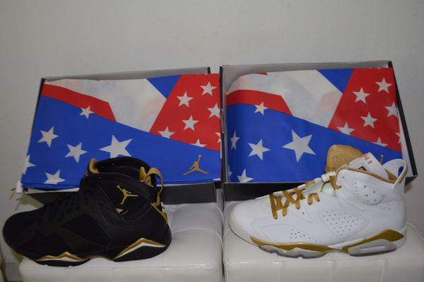 size 40 f238c 5b388 ... Air Jordan Golden Moment Pack vi vii retro GMP moments gold medal dmp  Size 11 ...