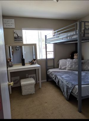 Grey Full/Full Metal Bunk Bed Frame for Sale in Red Bluff, CA