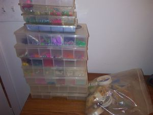 Bead organizer with beads for Sale in Austin, TX