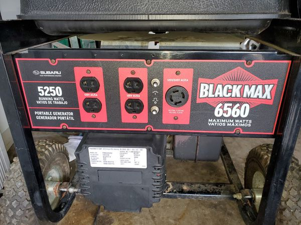 Subaru Black Max 6560 Watt Generator For Sale In Fort Worth Tx Offerup