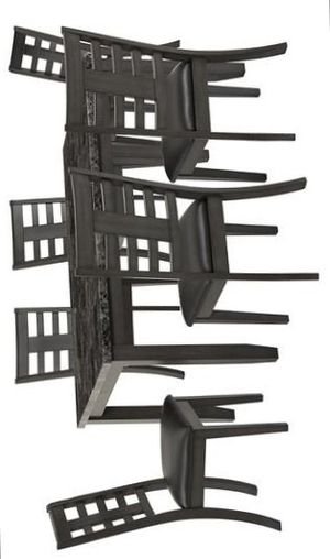 Canaan Black 7 Piece Dining Table Set for Sale in Houston, TX