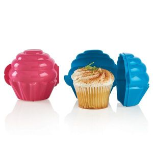 Tupperware Set of 2 Cupcake Holders Blue/Pink New for Sale in Delray Beach, FL
