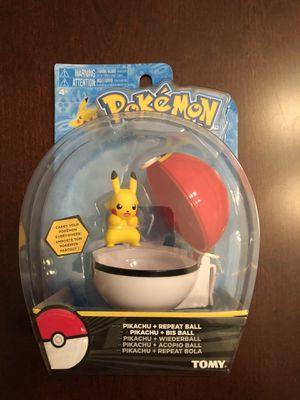 Pokemon Clip n Carry Pokeball Pikachu Repeat Ball Figure Set tomy for Sale in Pennsburg, PA