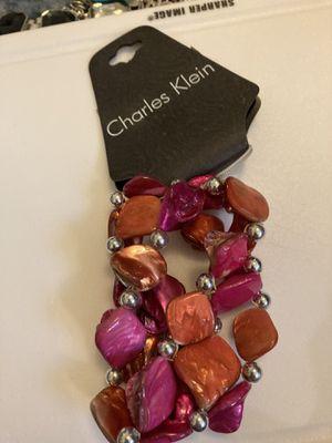 Brand New Charles Klein Hot Pink/Orange silver bead bracket for Sale in Gaston, SC