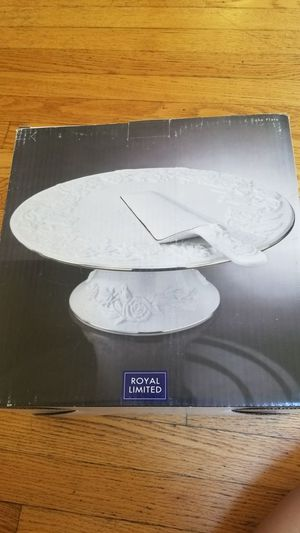 Royal Limited porcelain footed cake plate and server for Sale in Annandale, VA