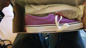Brand New Never Worn With Tags Vans Era Dewberry(Purple)/True White Size 8 Women 6½ Men for Sale in Chesapeake, VA