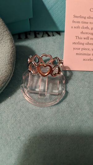Tiffany & Co 18K Rose Gold Heart Ring for Sale in McKeesport, PA