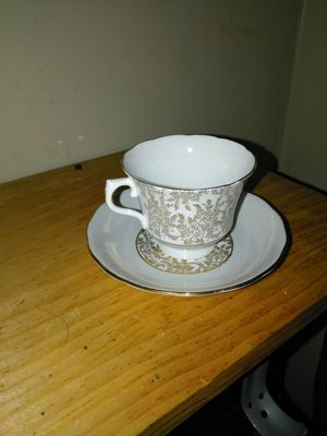Antique royal bone China 24k tea cup saucer for Sale in Revere, MA