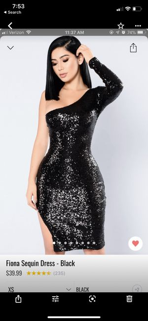 Fashion nova dress, party dress, wedding dress, sequins dress, black dress, off shoulder dress for Sale in Norwalk, CA