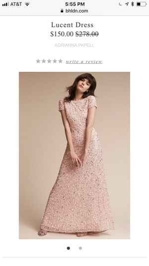 BHLDN / Anthropologie gown - blush sequins for Sale in Miami, FL