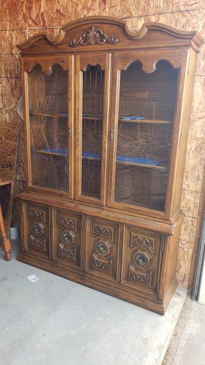 Vintage china cabinet for Sale in Wellington, KS
