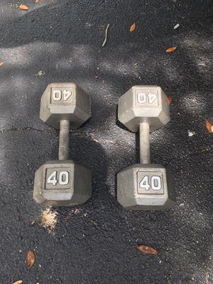 Set 40 dumbbells for Sale in Tampa, FL