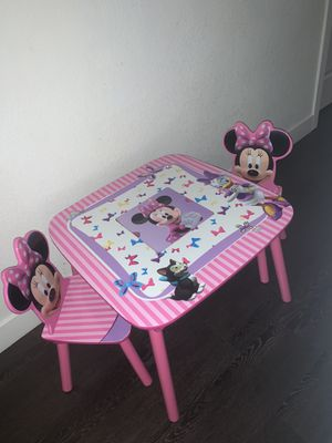 Minnie Mouse Kids Table With Two Chairs for Sale in Phoenix, AZ