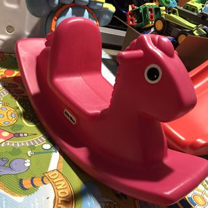Little Tikes Pink Rocking Horse ($15) Pick Up Only Mesa Baseline & Stapley for Sale in Mesa, AZ