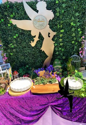 Dessert table/tinkerbell/tinkerbell party/Disney tinkerbell/tinkerbell decor/Candy bar/Mesa de Postres/Disney party/tinker bell for Sale in Lakewood, CA