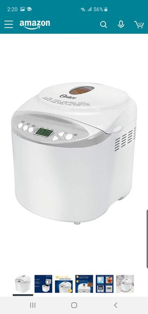Oster Expressbake Bread Maker with Gluten-Free Setting, 2 Pound, White (CKSTBR9050-NP) for Sale in St. Louis, MO
