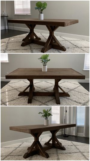 6FT x 3FT Solid Wood Rustic Farmhouse Dining Table for Sale in Pleasanton, CA