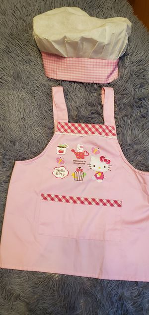 Like New Pink & White Sanrio Hello Kitty Chef Halloween Costume Size 3-4 (Best Offer) for Sale in Gardena, CA