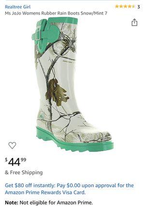 RealTree Rubber Rain Boots!! BRAND NEW!! for Sale in Pembroke Pines, FL