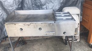 Plancha pa tacos con 3 charolas pa la carne stainless steal for Sale in Houston, TX