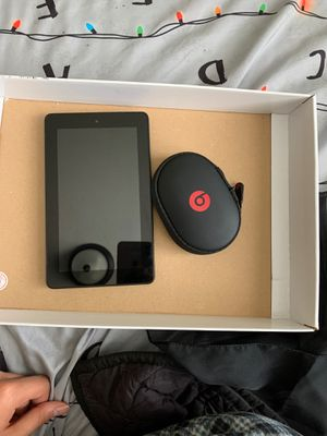 Amazon fire tablet and wireless Powerbeats for Sale in Concord, CA