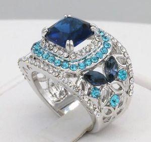 Gorgeous 18K WGP Two-tone Blue Ring/ Sizes: 9 for Sale in Brownsboro, TX