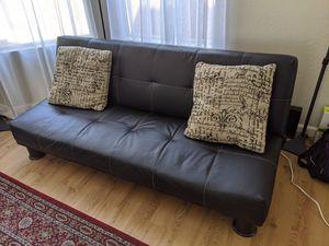 Black faux leather futon for Sale in Phoenix, AZ