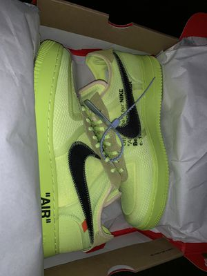 Nike Off White Air Force One Volt SZ 12 for Sale in Stonecrest, GA