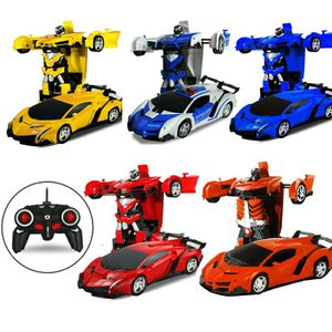 Abbyfrank 2 in 1 Robot Car RC Toy Model Transformation Remote Control Toys Battery Deformation Sports Robots Kids Gift Boys Toys for Sale in Bethesda, MD