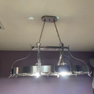 Island Chandelier With Pot Rack for Sale in Channelview, TX