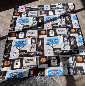 Large. San Antonio Spurs blanket. 56' x 68'. Hand assembled. for Sale in San Antonio, TX