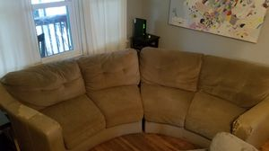 Couch - Round Sectional with ottoman. for Sale in Austin, TX