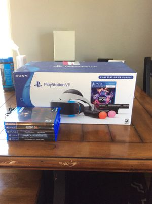 PS4 VR Bundle with 5 games for Sale in Denver, CO