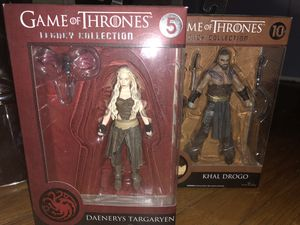 Game of thrones action figures Daenerys and Khal Diego for Sale in Coral Gables, FL