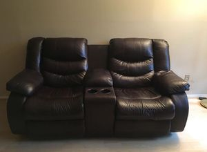 Brown leather electrical recliner for Sale in Alexandria, VA