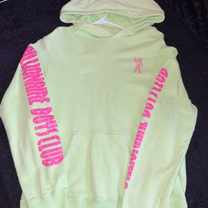size L billionaire boys club hoodie lime green & pink for Sale in Massapequa, NY