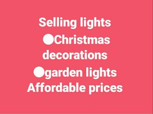 Christmas light /garden lights . for Sale in City of Industry, CA